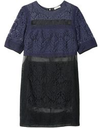 Rebecca Taylor Patch Lace Dress - Lyst