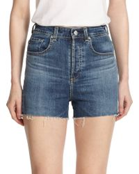 Ag Adriano Goldschmied Alexa Chung For Ag The Fifi High-Rise Cut-Off Shorts - Lyst