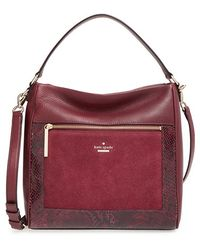 Kate Spade | 'chatham Lane - Harris' Leather Tote - Burgundy | Lyst