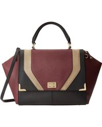 Calvin Klein Saffiano Leather Satchel - Lyst