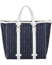 Thom Browne Anchor-pinstripe Buckle-handle Tote Bag - Lyst