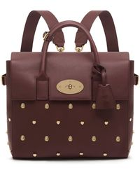 Mulberry Cara Delevingne Bag With Rivets purple - Lyst