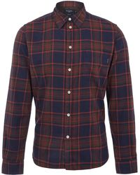 Paul Smith Burgundy Check Flannel Shirt - Lyst