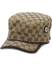 Gucci   Canvas Military Hat   Lyst