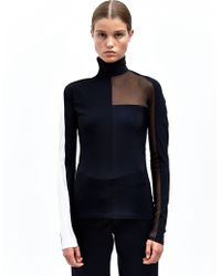 Paco Rabanne Womens Long Sleeved High Neck Top - Lyst