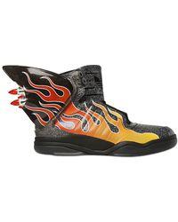 f9f937b370b9 Jeremy Scott for adidas - Js Shark Flame Glitter High Top Trainers - Lyst