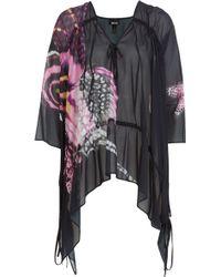 Just Cavalli Printed Silk Chiffon Top - Lyst