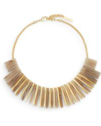 Vince Camuto - Natural Selection Fringe Bib Necklace - Lyst