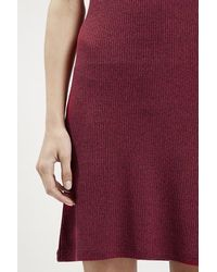 Topshop Strappy Back Bodycon Dress red - Lyst