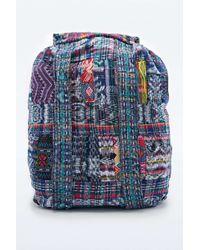 Stela 9 - Stela 9 Santiago Patchwork Backpack In Blue - Lyst