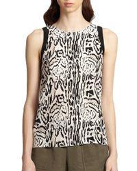 Joie Toki Leopard-print Silk Tank - Lyst