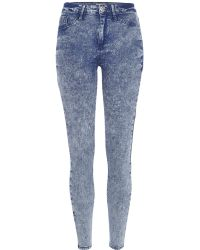 River Island Mid Acid Wash Molly Jeggings - Lyst