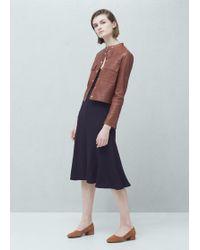 Mango | Pocket Leather Jacket | Lyst