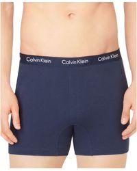 Calvin Klein Mens Knit Slim-fit Boxers - Lyst