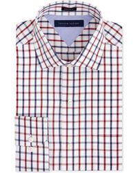 Tommy Hilfiger Big and Tall Red Multicheck Dress Shirt - Lyst