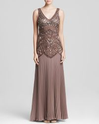 Sue Wong Gown - Embellished Bodice Pleat - Lyst