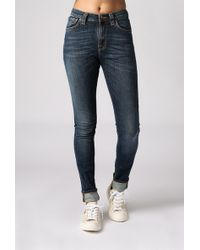 "Nudie Jeans 32"" Pipe Lead Jean blue - Lyst"