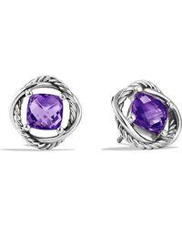 David Yurman Infinity Earrings with Amethyst - Lyst