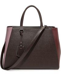 Fendi 2jours Bicolor Shopping Tote Bag - Lyst