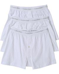 Calvin Klein Cotton Classic 3 Pack Knit Boxers - Lyst
