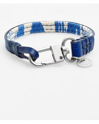 Caputo & Co. . Reversible Canvas & Leather Wrap Bracelet - Lyst