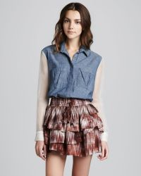 Textile Elizabeth and James Hillary Printed Tiered Skirt multicolor - Lyst