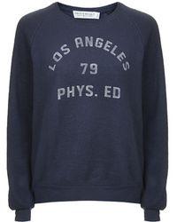 Topshop La Fleece Sweatshirt by Project Social Tee - Lyst