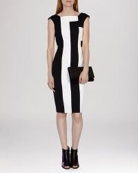 Karen Millen Dress - Vertical Striped black - Lyst