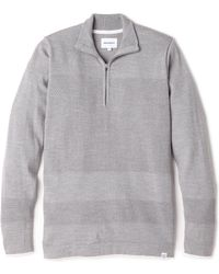 Norse Projects Half Zip Bubble Sweater - Lyst