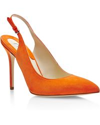 Brian Atwood - Liu Suede Slingback Pumps - Lyst