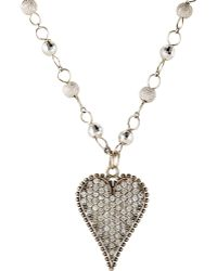 Devon Page Mccleary - Heart Pendant On Rosary Chain - Lyst