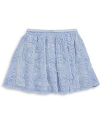 Jessica Simpson - Keely Floral Mesh Skater Skirt - Lyst