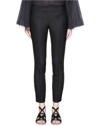 The Row | 'caro' Stretch Wool Hopsack Capri Pants | Lyst