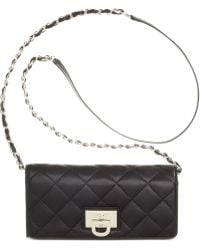 DKNY Gansevoort Quilted Nappa Leather Wallet Clutch With Chain - Lyst