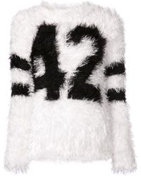 Jeremy Scott Fluffy Football Sweater - Lyst