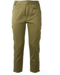 Isabel Marant Khaki Cotton Jessie Pants - Lyst