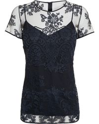 Burberry Prorsum Lace and Silk Top - Lyst
