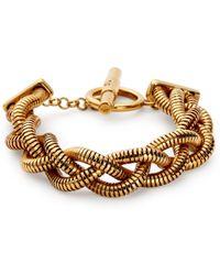 Diane von Furstenberg Gemma Braided Chain Toggle Bracelet gold - Lyst