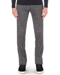 Missoni Textured Wool Blend Trousers Navy - Lyst