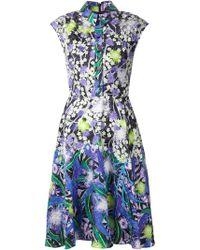 Peter Pilotto Flower Print Shirt Dress - Lyst