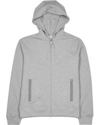 Acne Studios - Johna Grey Hooded Cotton Sweatshirt - Lyst