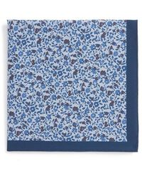 Calibrate - 'delicate Botanical' Cotton Pocket Square - Lyst