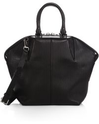 Alexander Wang Emile Small Ribbed Tote/Silvertone - Lyst