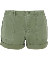 Madewell Cotton And Linen-Blend Twill Shorts - Lyst