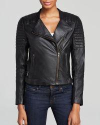 Trina Turk Jacket  Camila Leather Moto - Lyst