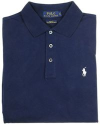 Ralph Lauren Blue Label Blue Polo Shirt With Embroidered Logo - Lyst