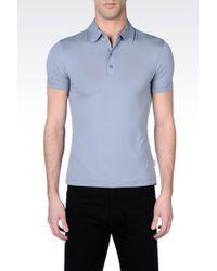 Armani Viscose Jersey Polo Shirt - Lyst