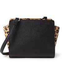 Forever 21 Leopard Print Crossbody Bag - Lyst