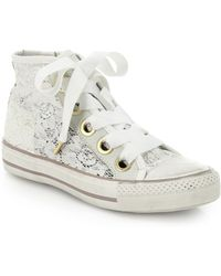 Ash Venus Lace High-Top Sneakers - Lyst