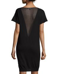 Todd And Duncan - Cashmere-blend Sheer-inset Top - Lyst